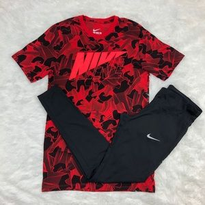 Nike Leggings-Tees Bundle size Medium